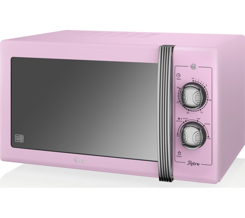 Image of SWAN Retro SM22070PN Solo Microwave - Pink, Pink