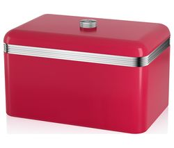 SWAN Retro Bread Bin - Red