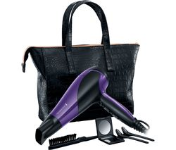 REMINGTON D3192GP Glamourous of All Hair Dryer Set - Black & Purple