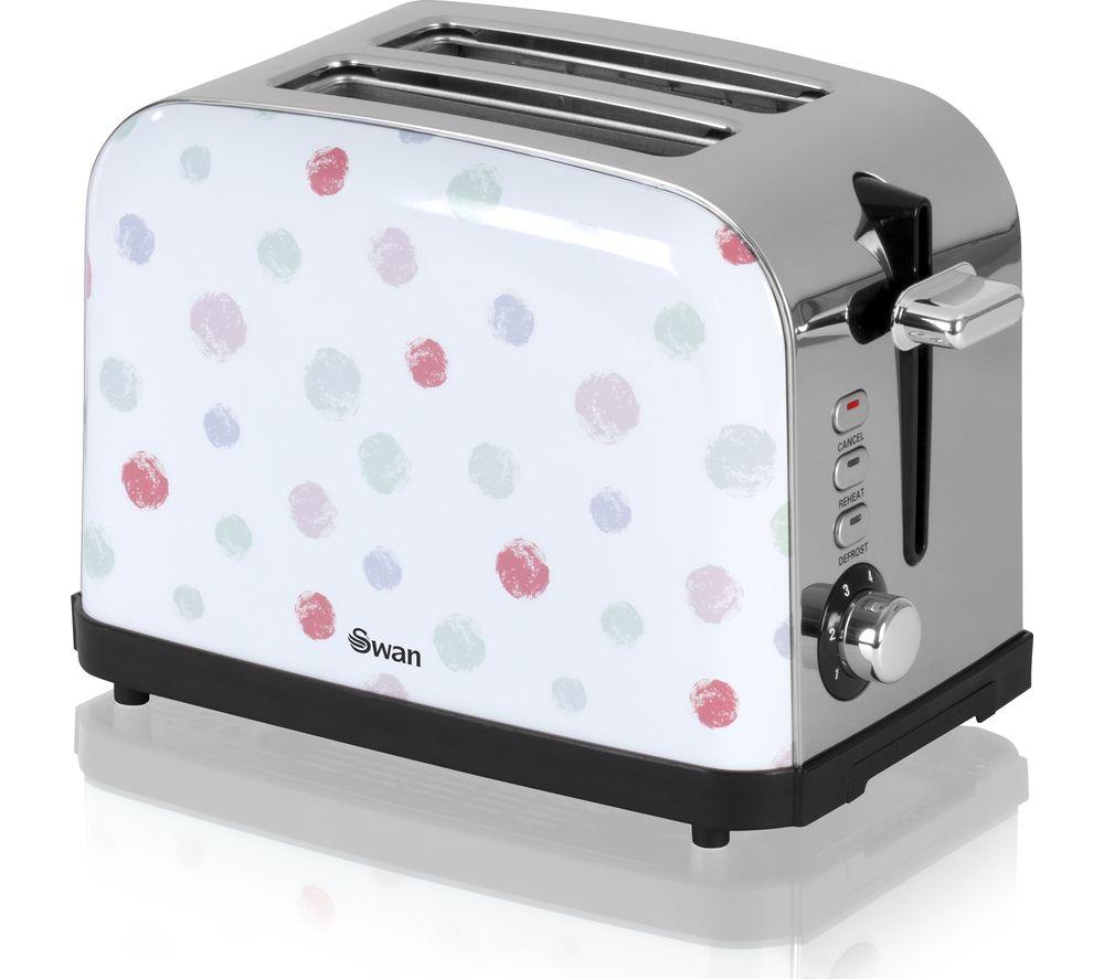 SWAN ST15020POLN 2-Slice Toaster - Polka Dot