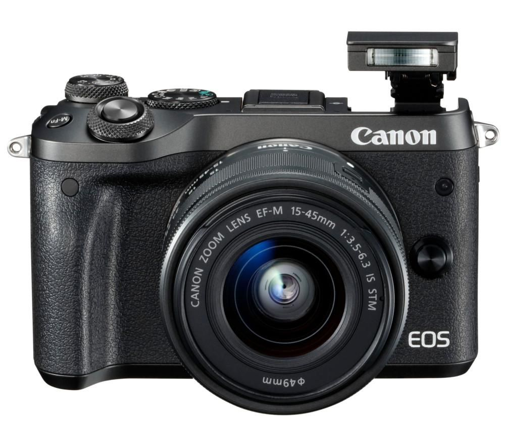 CANON EOS M6 Mirrorless Camera with EF-M 15-45 mm f/3.5-6.3 IS STM Lens + Extreme Plus Class 10 SDXC Memory Card - 64 GB