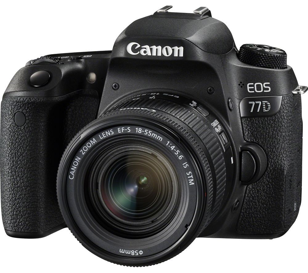 Compare prices for Canon EOS 77D DSLR Camera with 18-55 mm f/4-5.6 IS STM Zoom Lens