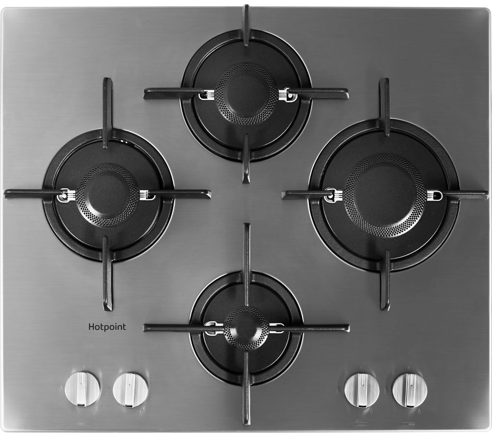 HOTPOINT FTGHL 641 D/IX/H Gas Hob - Stainless Steel, Stainless Steel