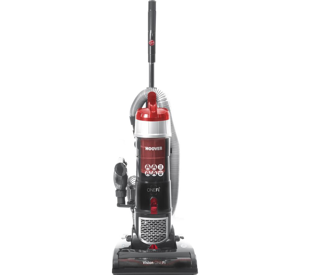 HOOVER Vision One-Fi VR81OF01 Upright Bagless Vacuum Cleaner - Grey & Red