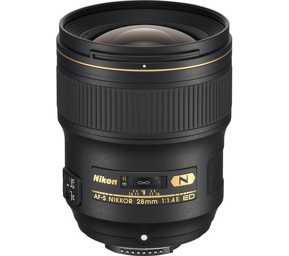NIKON AF-S NIKKOR 28 mm f/1.4E ED Wide-angle Prime Lens