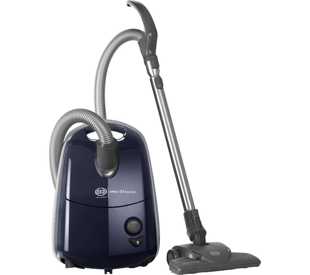 Compare retail prices of Sebo Airbelt E1 Komfort ePower Cylinder Vacuum Cleaner - Dark Blue to get the best deal online