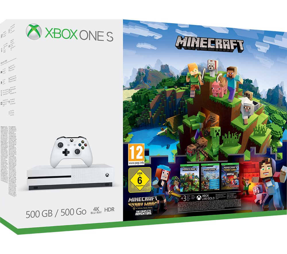 Image of MICROSOFT Xbox One S with Minecraft