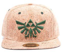 ZELDA Triforce Logo Snapback Cap - Cork