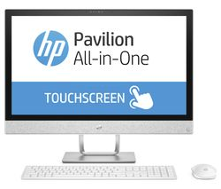 "HP Pavilion 24-r009na 23.8"" Touchscreen All-in-One PC - Blizzard White"
