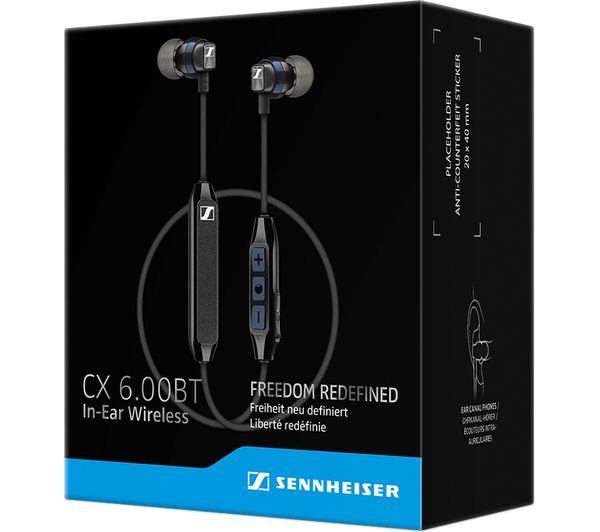 fd7c257afaaf41 Buy SENNHEISER CX 6.00BT Wireless Bluetooth Headphones - Black ...
