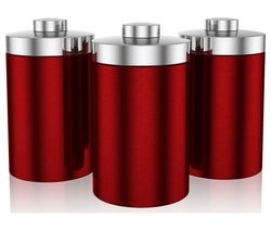SWAN Townhouse Round 1.6 litres Canisters - Red, Set of 3