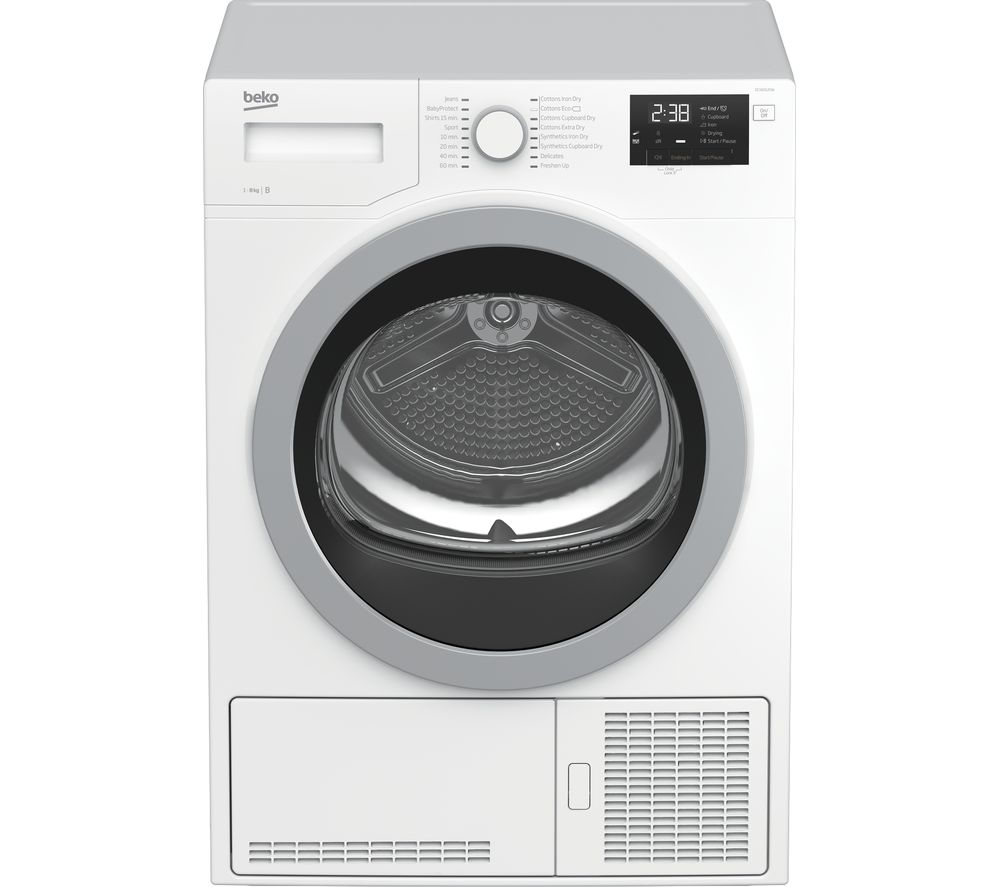 Dcx83120 W 8 Kg Condenser Tumble Dryer   White by Currys