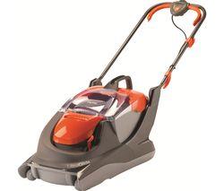 FLYMO UltraGlide Corded Hover Lawn Mower - Orange & Grey