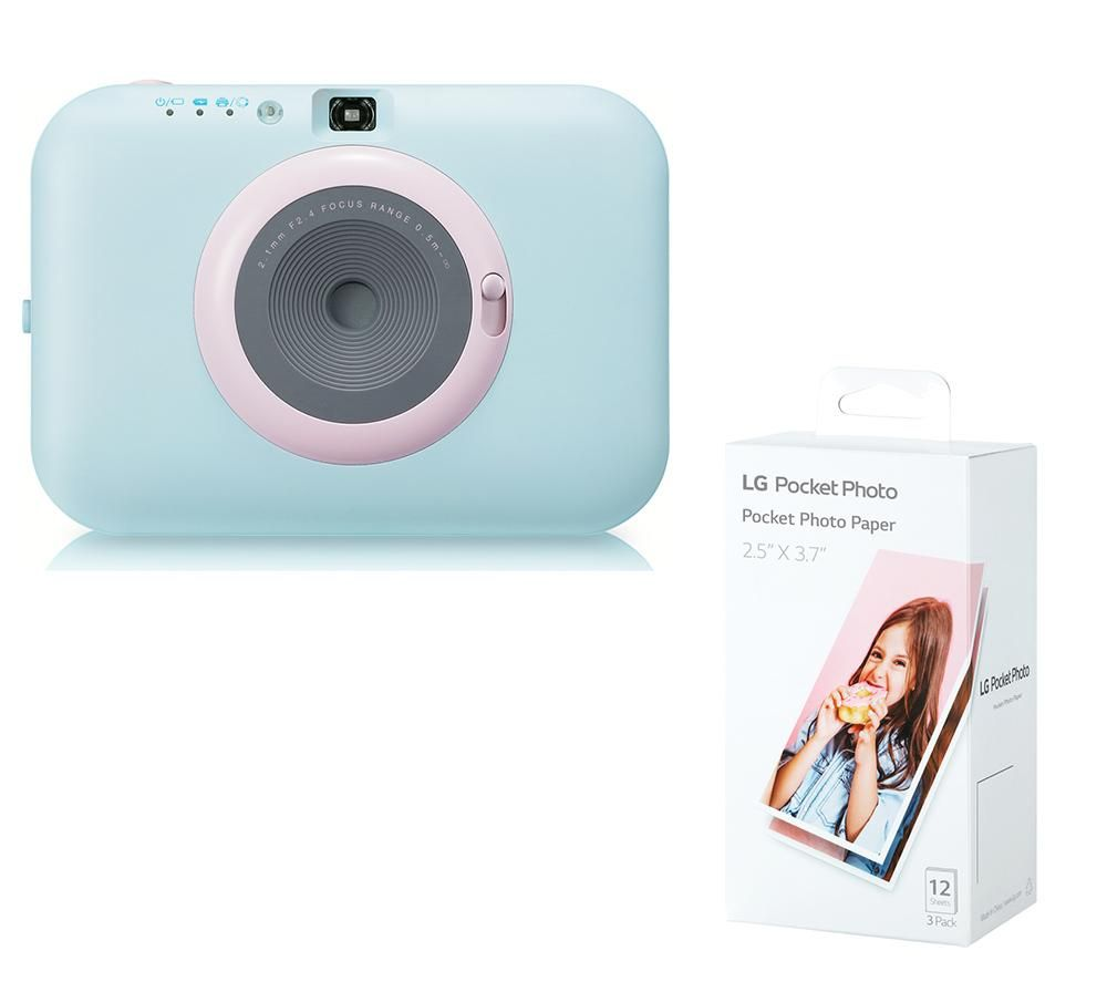 Click to view product details and reviews for Lg Pocket Photo Pc389s Instant Camera Photo Paper Bundle Blue Blue.