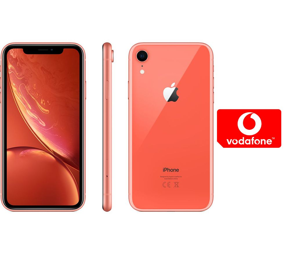 APPLE iPhone XR & Pay As You Go Micro SIM Card Bundle - 256 GB, Coral