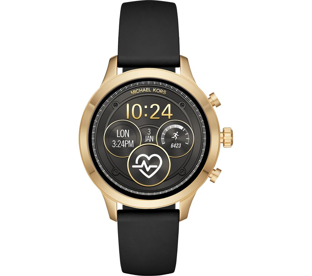 d931be4b92a6 Buy MICHAEL KORS Access Runway MKT5053 Smartwatch - Black   Gold ...