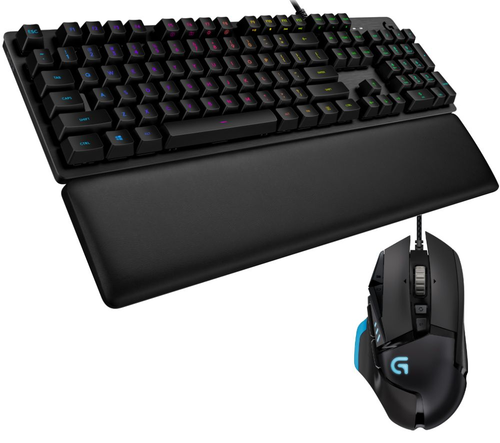 Image of LOGITECH G513 GL Mechanical Gaming Keyboard & G502 Proteus Spectrum Mouse Bundle, Red