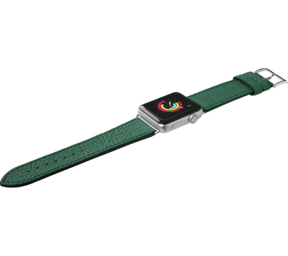 LAUT Apple Watch 38 / 40 mm Milano Leather Loop Strap - Emerald, Small