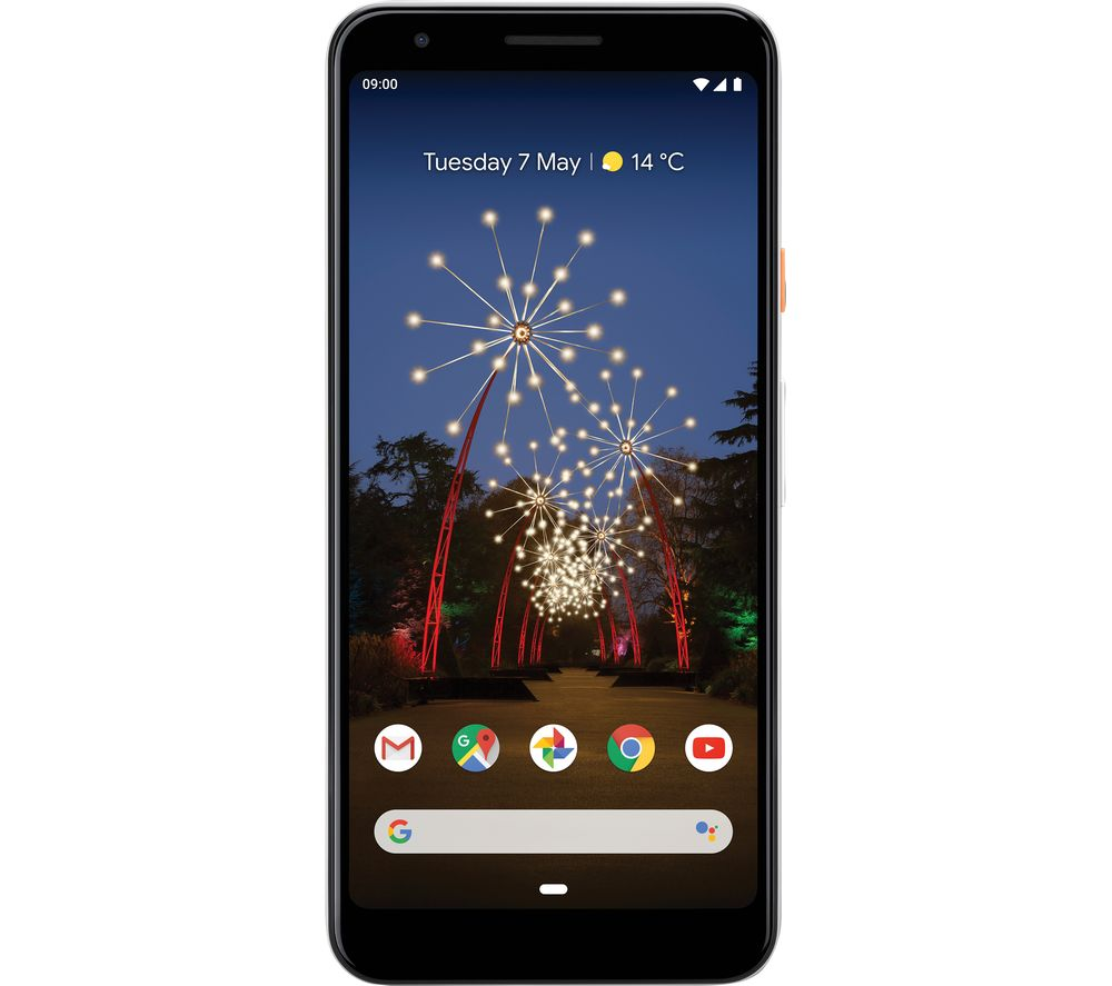 GOOGLE Pixel 3a - 64 GB, Clearly White
