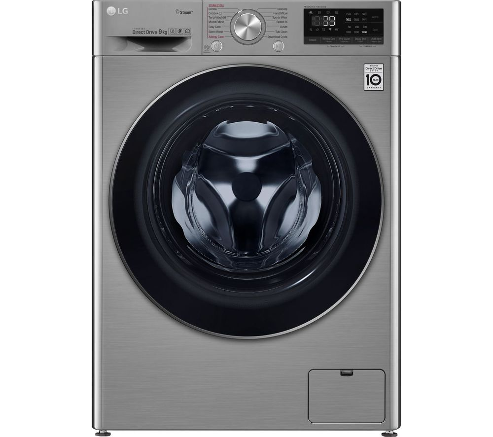 LG TurboWash with AI DD V7 F4V709STS WiFi-enabled 9 kg 1400 Spin Washing Machine - Graphite