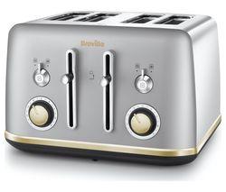 BREVILLE Mostra VTT929 4-Slice Toaster - Silver
