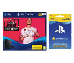 SONY Playstation 4 Pro, FIFA 20 & Playstation Plus Bundle - 1 TB