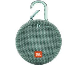 JBL Clip 3 CLIP3TEAL Portable Bluetooth Speaker - Teal