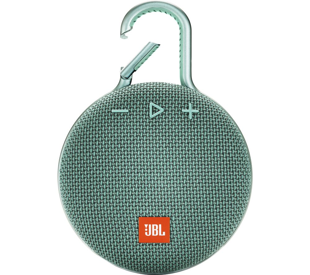 Clip 3 JBLCLIP3TEAL Portable Bluetooth Speaker - Teal, Teal