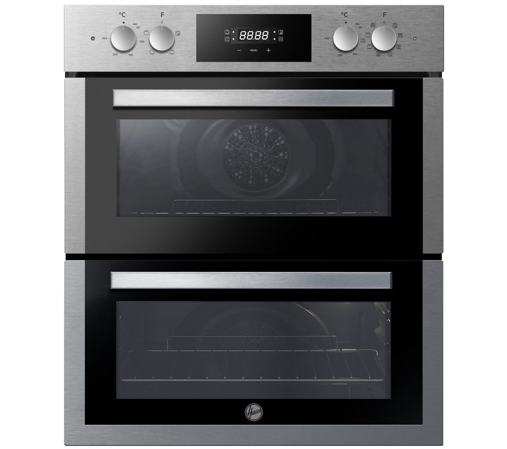 Image of HOOVER H-OVEN 300 HO7DC3E3078IN Electric Built-under Double Oven - Stainless Steel, Stainless Steel
