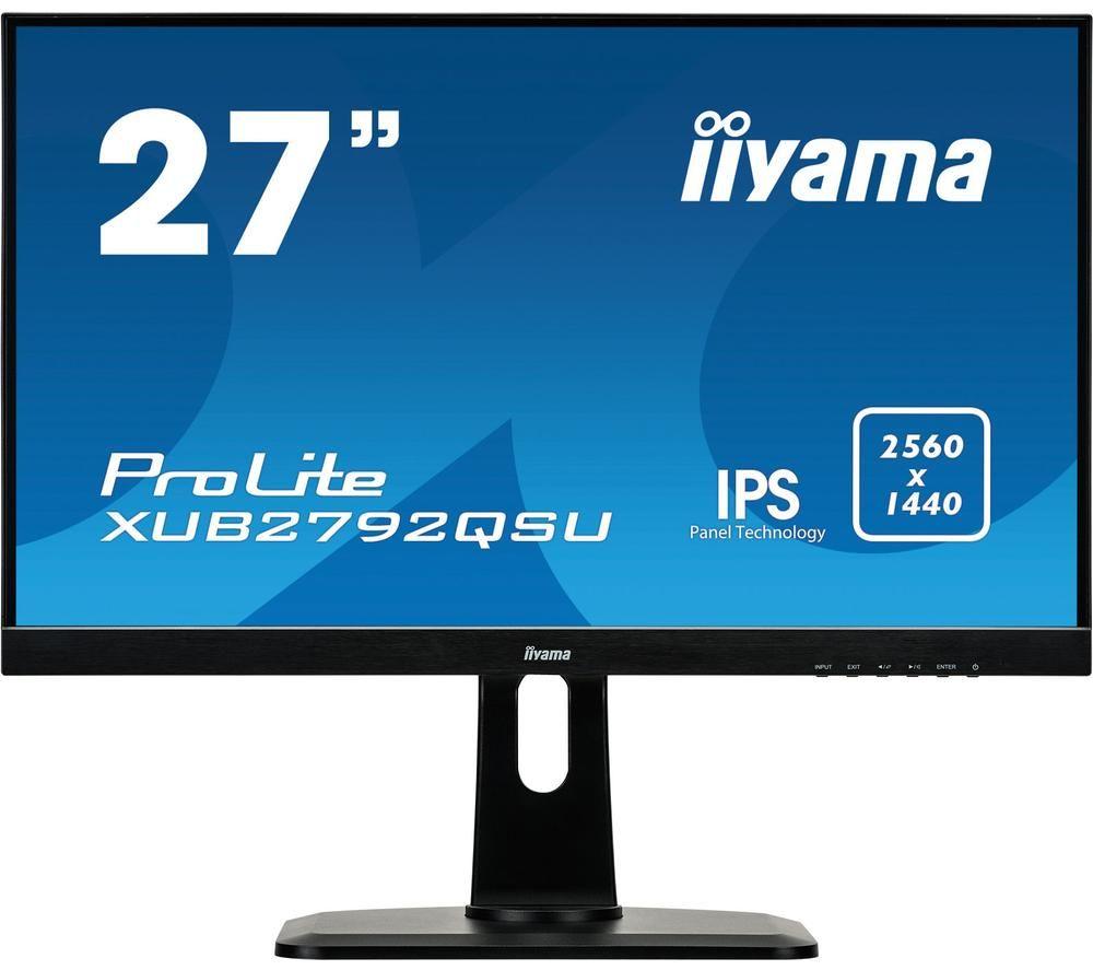 "Image of IIYAMA ProLite XUB2792QSU-B1 Quad HD 27"" IPS LCD Monitor - Black, Black"