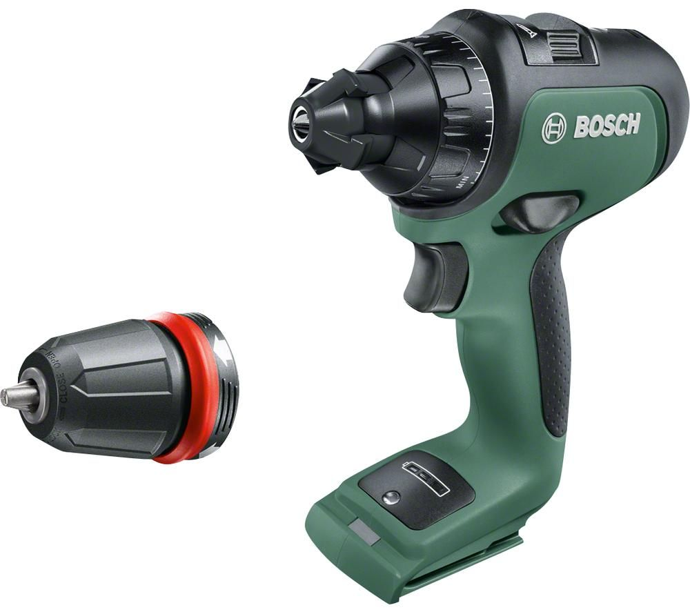 BOSCH AdvancedDrill 18 Cordless Drill Driver - Black & Green, Black