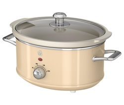 SWAN Retro SF17021CN Slow Cooker - Cream Best Price, Cheapest Prices
