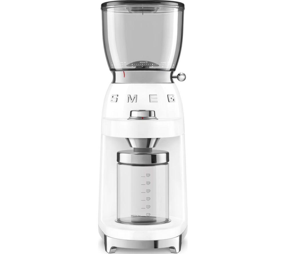 SMEG CGF01WHUK Electric Coffee Grinder - White