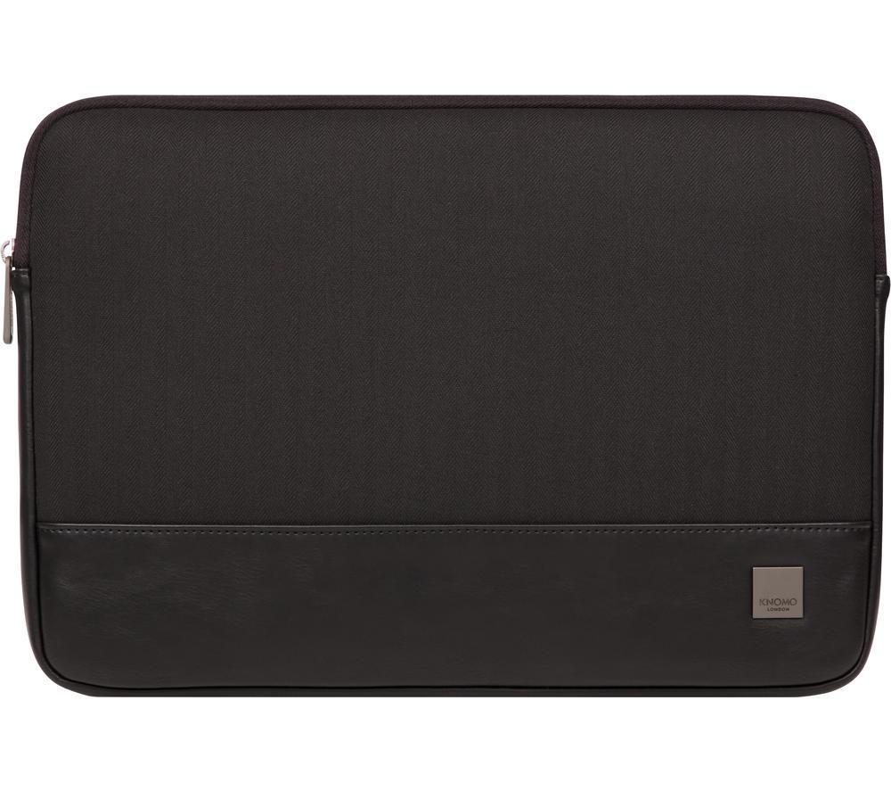 """Image of KNOMO Herringbone 14"""" Laptop Sleeve - Black, Black"""