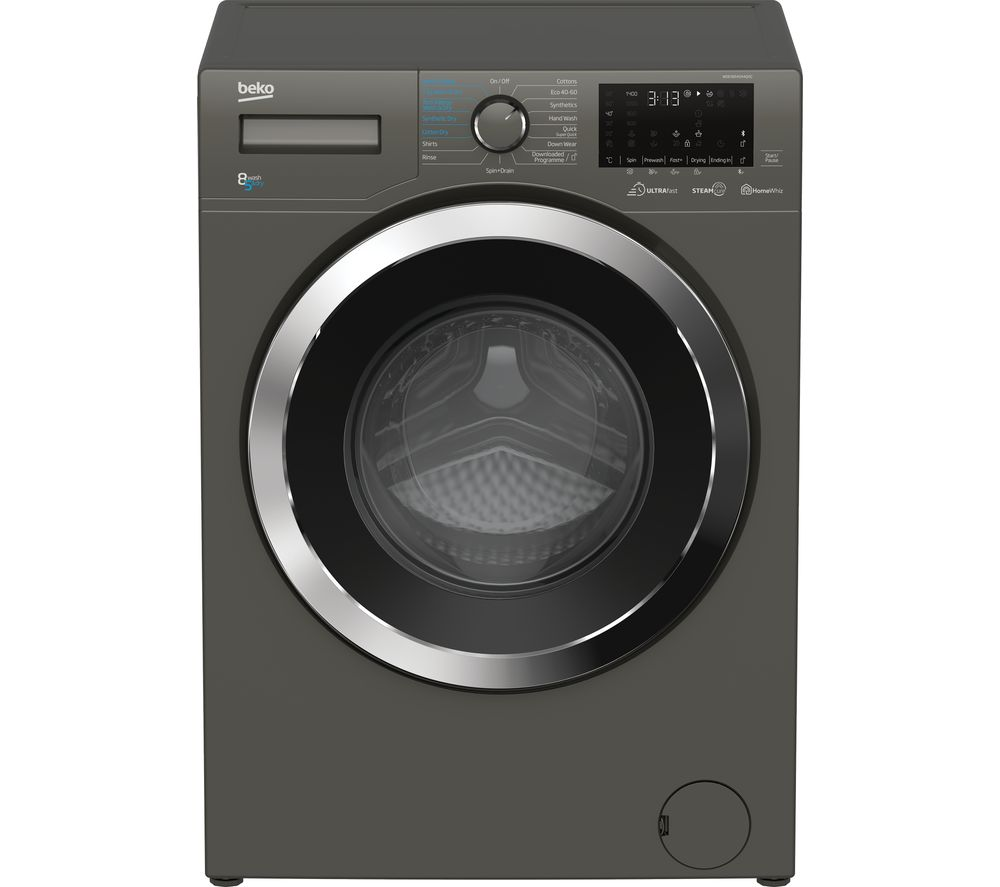 BEKO Ultrafast WDEX854044Q0G Bluetooth 8 kg Washer Dryer - Graphite