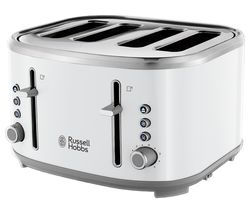Bubble 24410 4-Slice Toaster - White