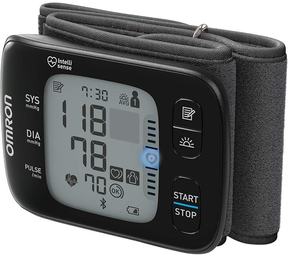 OMRON RS7 Intelli IT Wrist Blood Pressure Monitor - Black