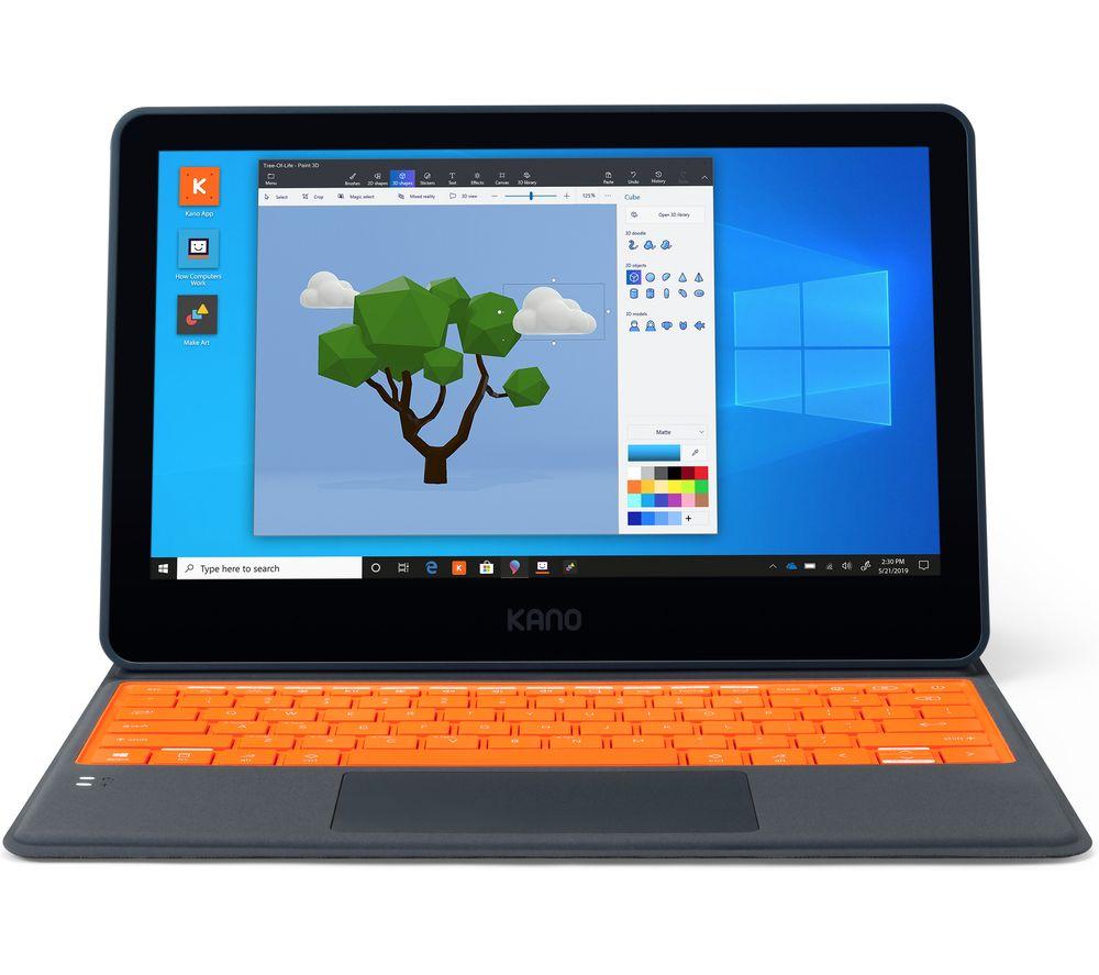 """Image of KANO 11.6"""" 2 in 1 Laptop - Intel®Celeron™, 64 GB eMMC, Black & Orange, Black"""