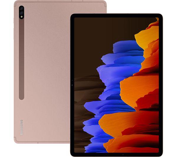 "Image of SAMSUNG Galaxy Tab S7 11"" Tablet - 256 GB, Mystic Bronze, Bronze"