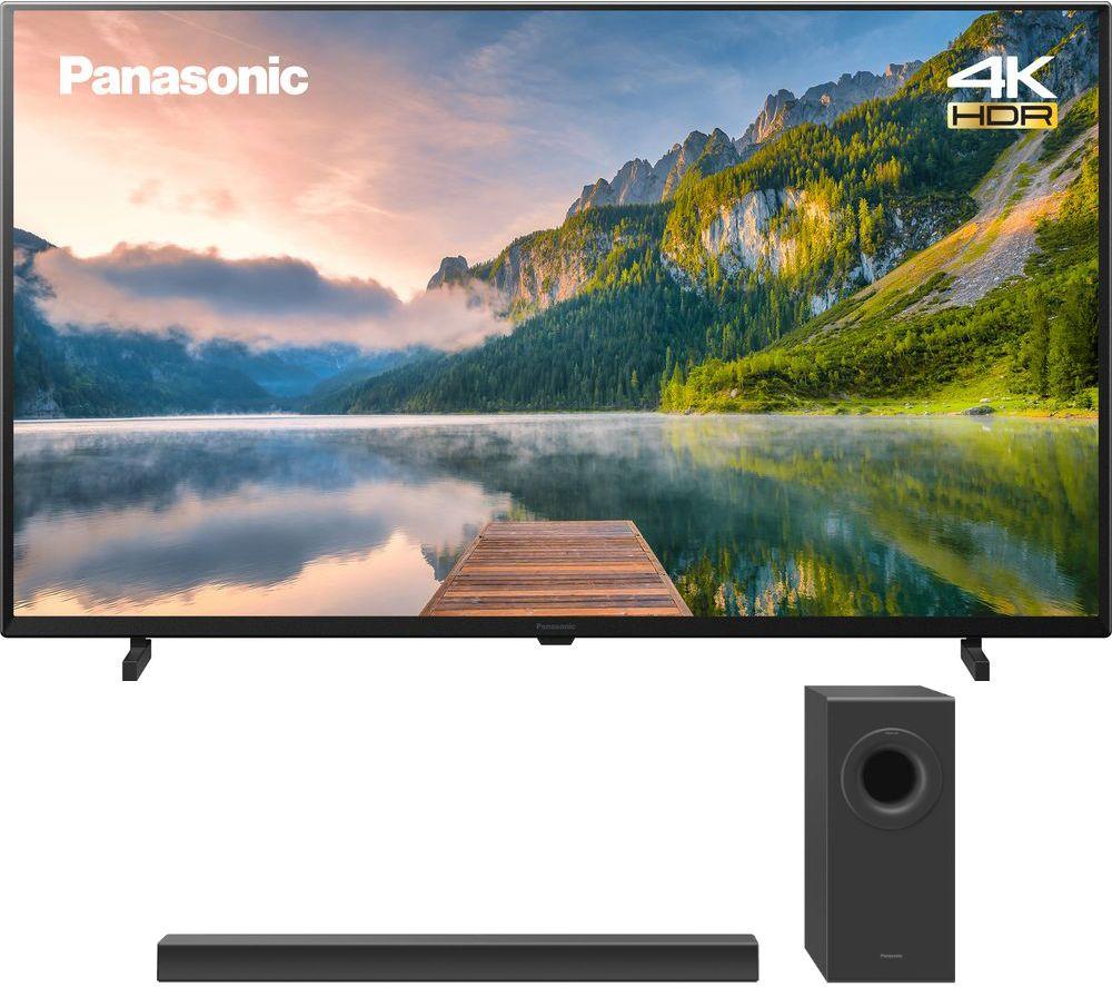 "PANASONIC TX-40JX800B 40"" Smart 4K Ultra HD HDR LED TV & Wireless Soundbar Bundle"