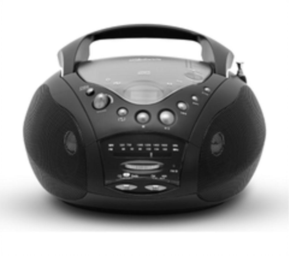ROBERTS CD9959BK Portable FM/AM Boombox - Black, Black