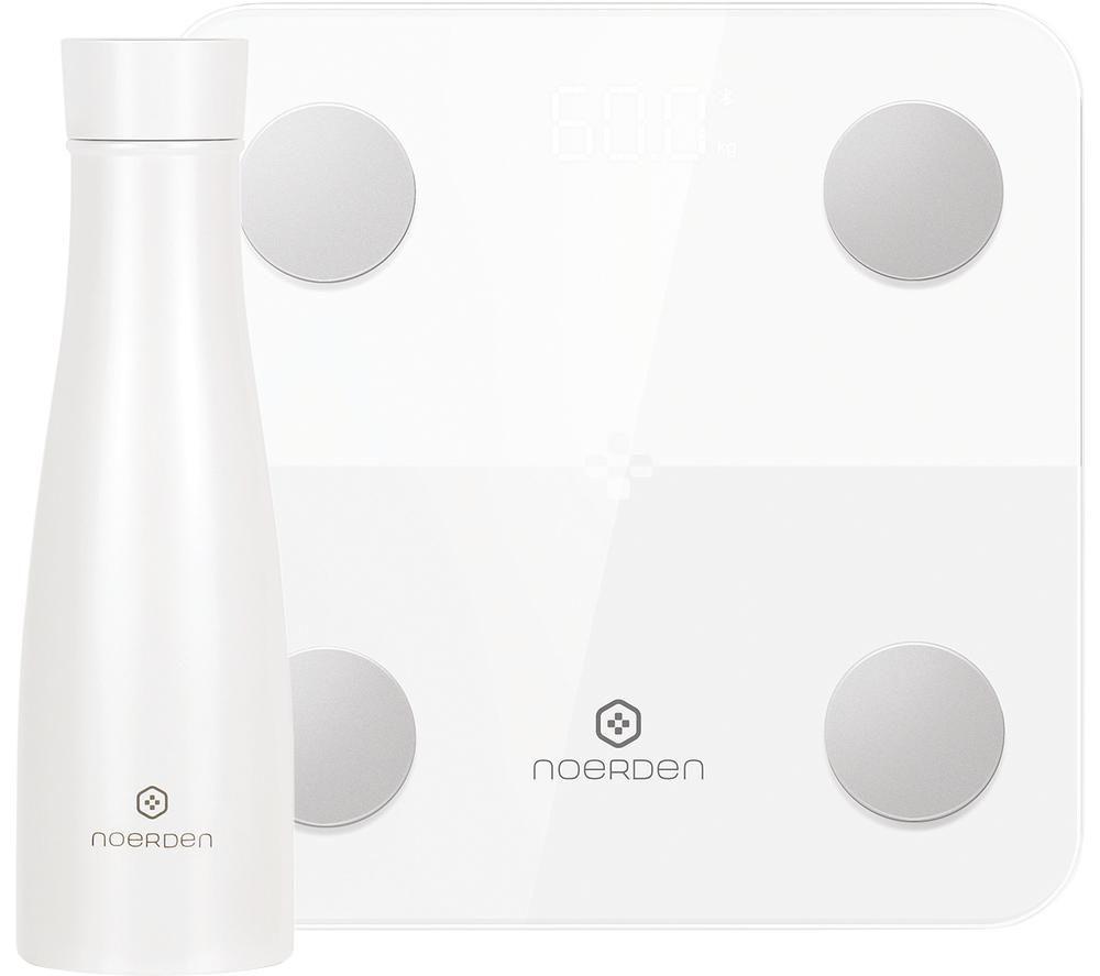 NOERDEN LIZ Smart Bottle & Minimi Smart Scale Bundle - White, White