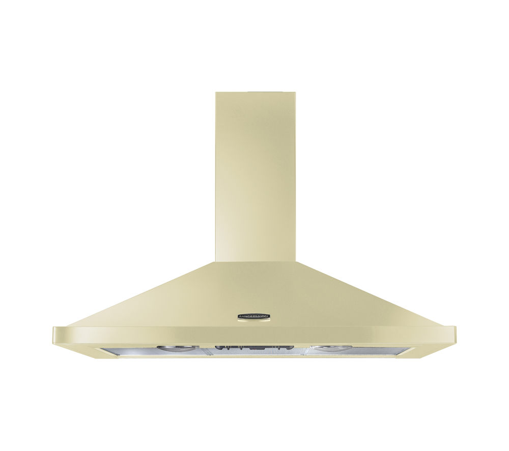 RANGEMASTER LEIHDC100CR/C Chimney Cooker Hood - Cream & Chrome