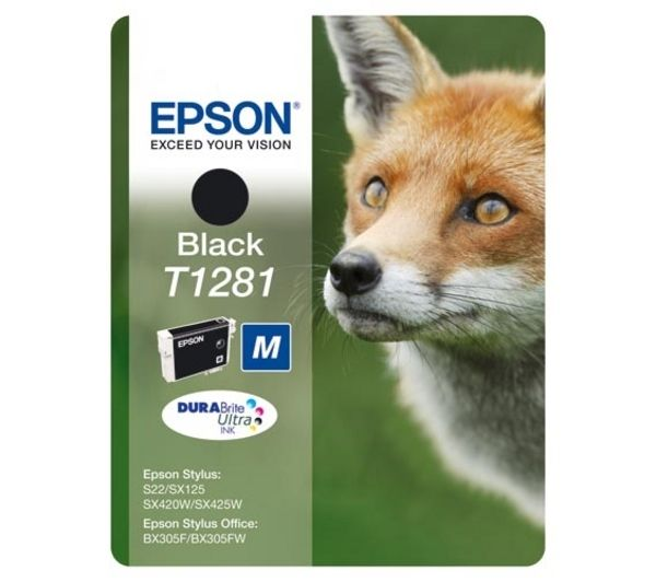 EPSON Fox T1281 Black Ink Cartridge