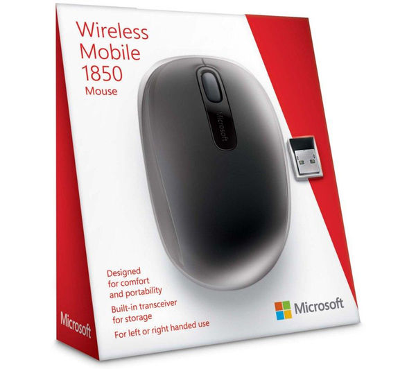 1dcbfdce527 MICROSOFT Wireless Mobile Mouse 1850 – Black Fast Delivery | Currysie