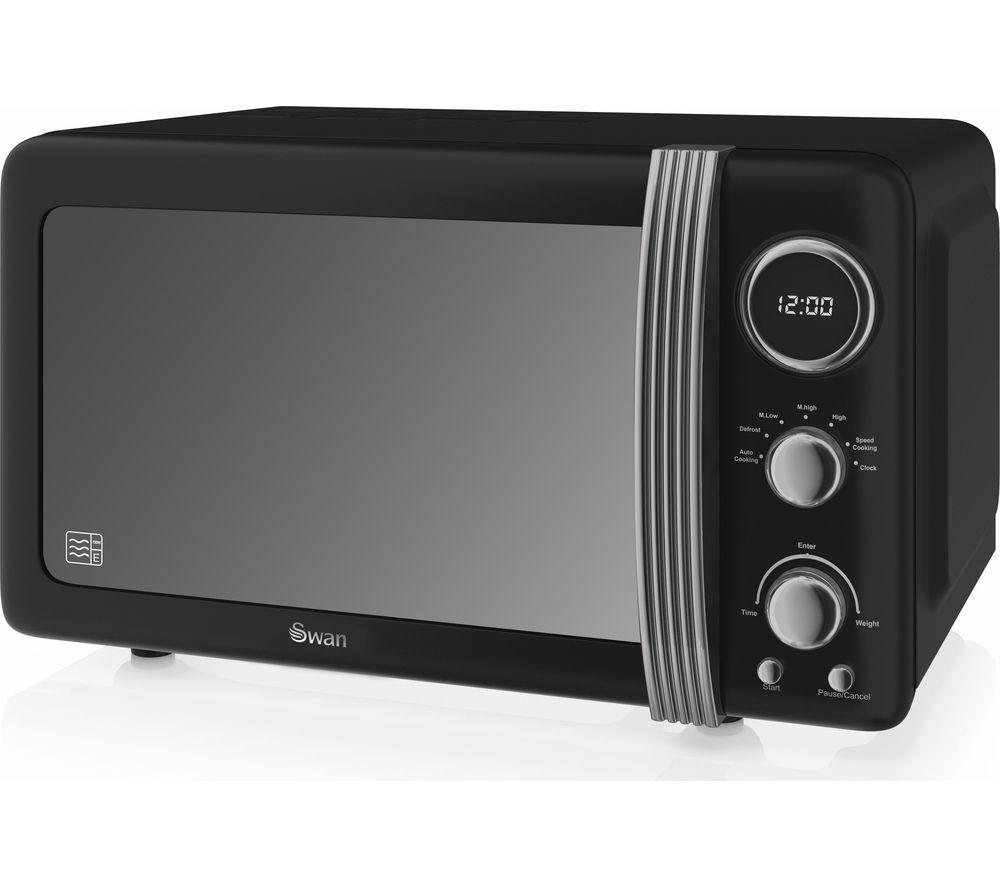 SWAN Retro Digital SM22030BN Solo Microwave - Black