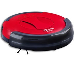 VILEDA 145096 Relax Robot Vacuum Cleaner - Red & Black
