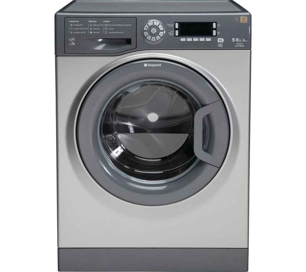 HOTPOINT WDUD9640G Washer Dryer - Graphite