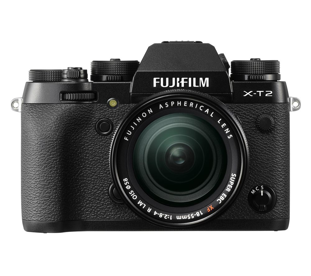 FUJI X-T2 Compact System Camera with 18-55 mm f/2.8 Standard Zoom Lens - Black, Black