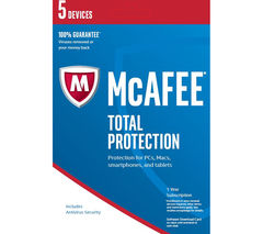 MCAFEE Total Protection 2017 - 1 year for 5 devices (download)